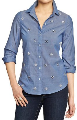 Old Navy Women's Embellished Chambray Shirts