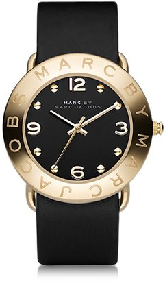 Marc by Marc Jacobs Amy 36mm Black Leather Strap Watch $175 thestylecure.com