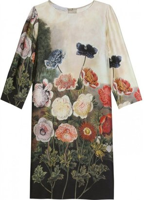 Stella McCartney SILK DRESS WITH FLORAL PRINT