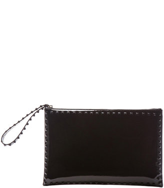 Valentino Small Rockstud Punkouture Clutch in Red Patent