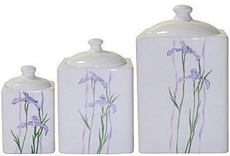 Corelle Shadow Iris Canisters - set of 3