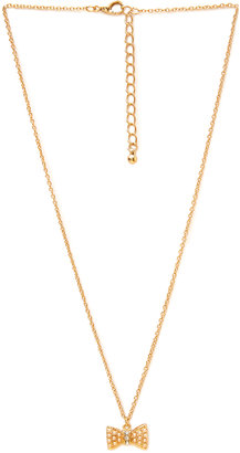 Forever 21 Femme Bow Pendant Necklace