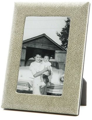 """Graphic Image Shagreen Embossed Italian Leather Frame, 4"""" x 6"""""""