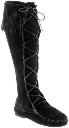 Minnetonka Moccasin Lace Knee Hi Boot
