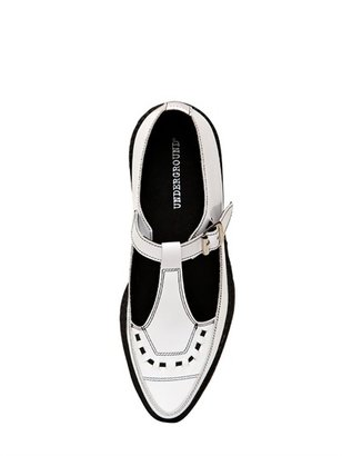 Underground 50mm Brushed Leather Creepers