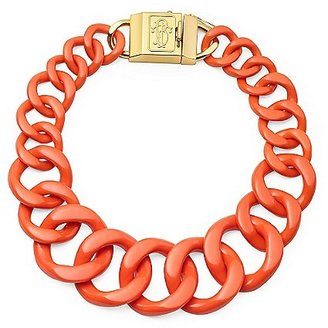 Tory Burch Resin Necklace W/ Monogram Clasp