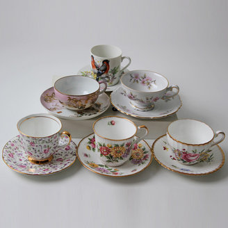 Modish Vintage Bone China Cups & Saucers