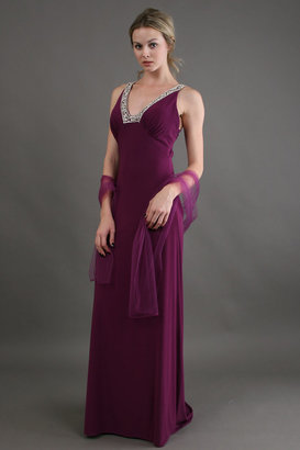 Scala Long Jersey with Beaded Open Back
