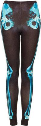 Topshop Tall X-Ray Skeleton Print Leggings