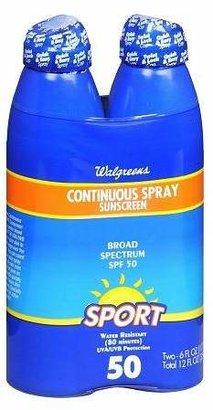 Walgreens Continuous Spray Sunscreen SPF 50