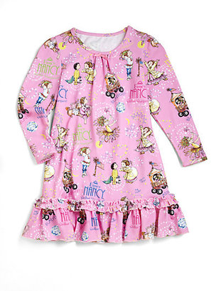 """Books To Bed Toddler's & Little Girl's Two-Piece """"Fancy Nancy"""" Gown and Book Set"""