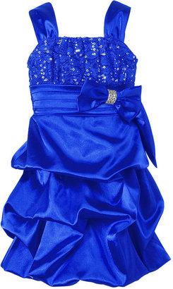 Sequin Hearts Girls Dress, Girls Satin Pick-Up Dress