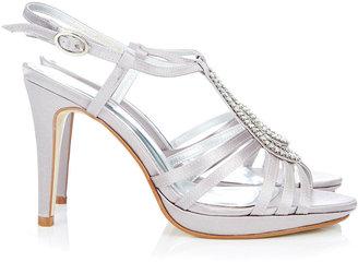 Wallis Grey Diamante Sandal