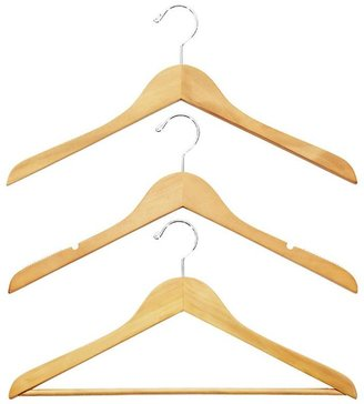 Container Store Case of 36 Basic Shirt Hangers Natural