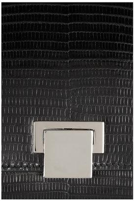 The Row Metal-framed lizard clutch