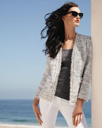 Neiman Marcus Bling-Detailed Tweed Jacket