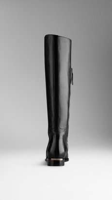 Burberry Lace-Up Detail Riding Boots