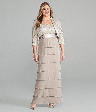 R & M Richards Woman Lace Bolero Jacket Dress