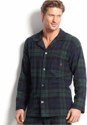 Polo Ralph Lauren Men's Plaid Flannel Pajama Top $38 thestylecure.com
