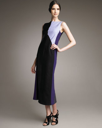 Narciso Rodriguez Colorblock Mid-Calf Dress