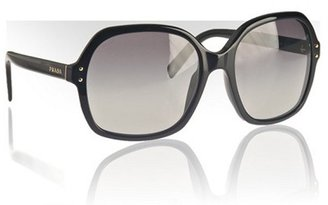 Prada black acrylic oversized sunglasses