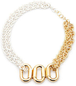 *MKL Accessories The Split Personality Necklace in Silver and Gold