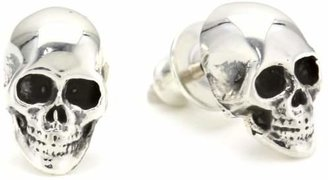 King Baby Silver Skull Post Stud Earrings $145 thestylecure.com