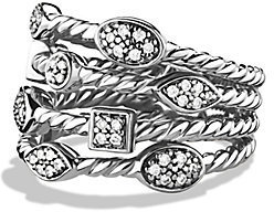 David Yurman Confetti Four-Row Ring with Diamonds