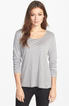 Eileen Fisher Stripe Micromodal & Cashmere Top