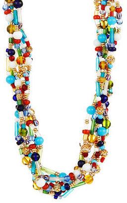 Lauren Ralph Lauren Beaded Macram Torsade Necklace