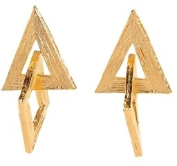 Yochi Design Interlocking Triangle Earrings