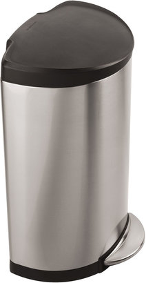 Simplehuman 40-Liter Semi-Round Stainless Steel Step Trash Can