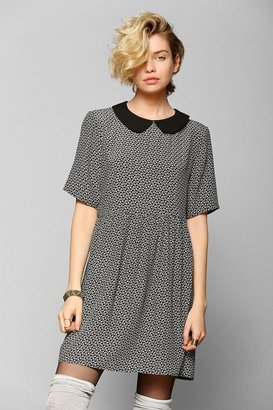 Babydoll Cooperative Contrast-Collar Dress