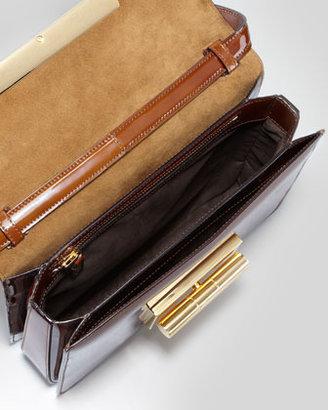 Tom Ford Natalia Large Turn-Lock Shoulder Bag, Caramel