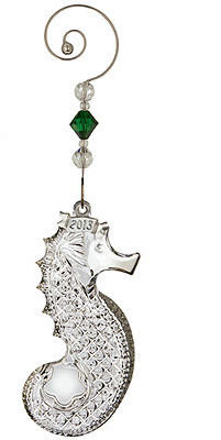 Waterford Christmas Ornament, 2013 Annual Seahorse