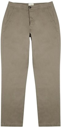 Oliver Spencer Eden Stone Cotton Trousers