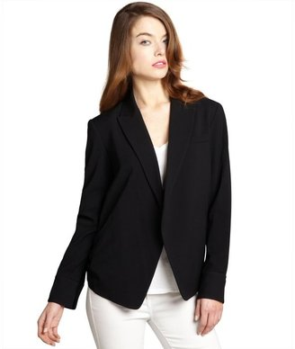 Alexander Wang black wool blend open front tuxedo jacket
