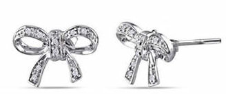 HBC CONCERTO Diamond Sterling Silver Bow Stud Earrings