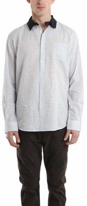 Robert Geller Contrast Collar Dress Shirt