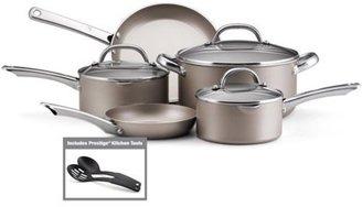 Farberware 10-pc. Nonstick Premium Nonstick Cookware Set with Stainless Handles, Platinum