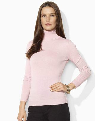Lauren Ralph Lauren Petites Long-Sleeved Combed Cotton Turtleneck