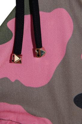 Valentino Camouflage-print triangle bikini