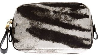 Lanvin zebra print make-up case