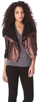 Veda Max Foil Leather Jacket