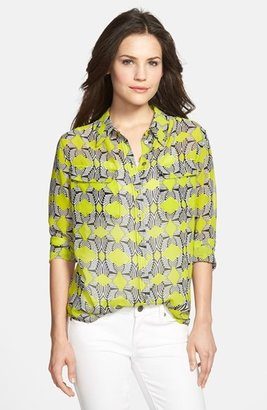 Vince Camuto Two by Print Utility Blouse