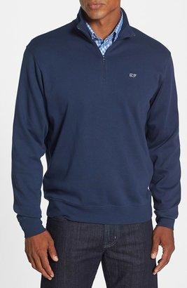 Men's Vineyard Vines Quarter Zip Cotton Jersey Sweatshirt $98.50 thestylecure.com