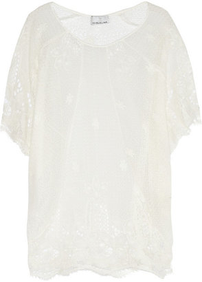 Miguelina Jessica crochet cotton-lace tunic