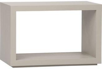 "Crate & Barrel Ascend Taupe 27"" Open Storage Unit"