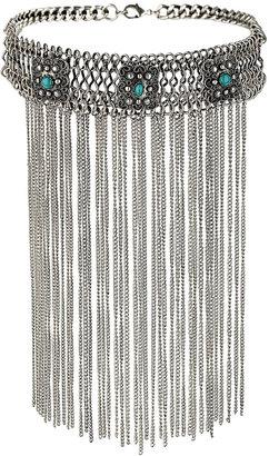 Topshop Three Stone Tassel Chained Collar