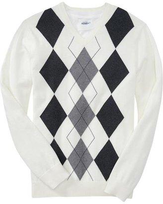 Old Navy Men's Argyle V-Neck Sweaters